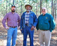 Alex Johnson (USDA NRCS) Joseph Mckinney (Landowner) And Joel Glover (USDA NRCS)