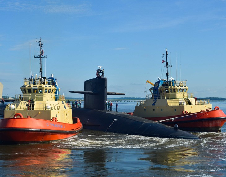Tugs with submarine